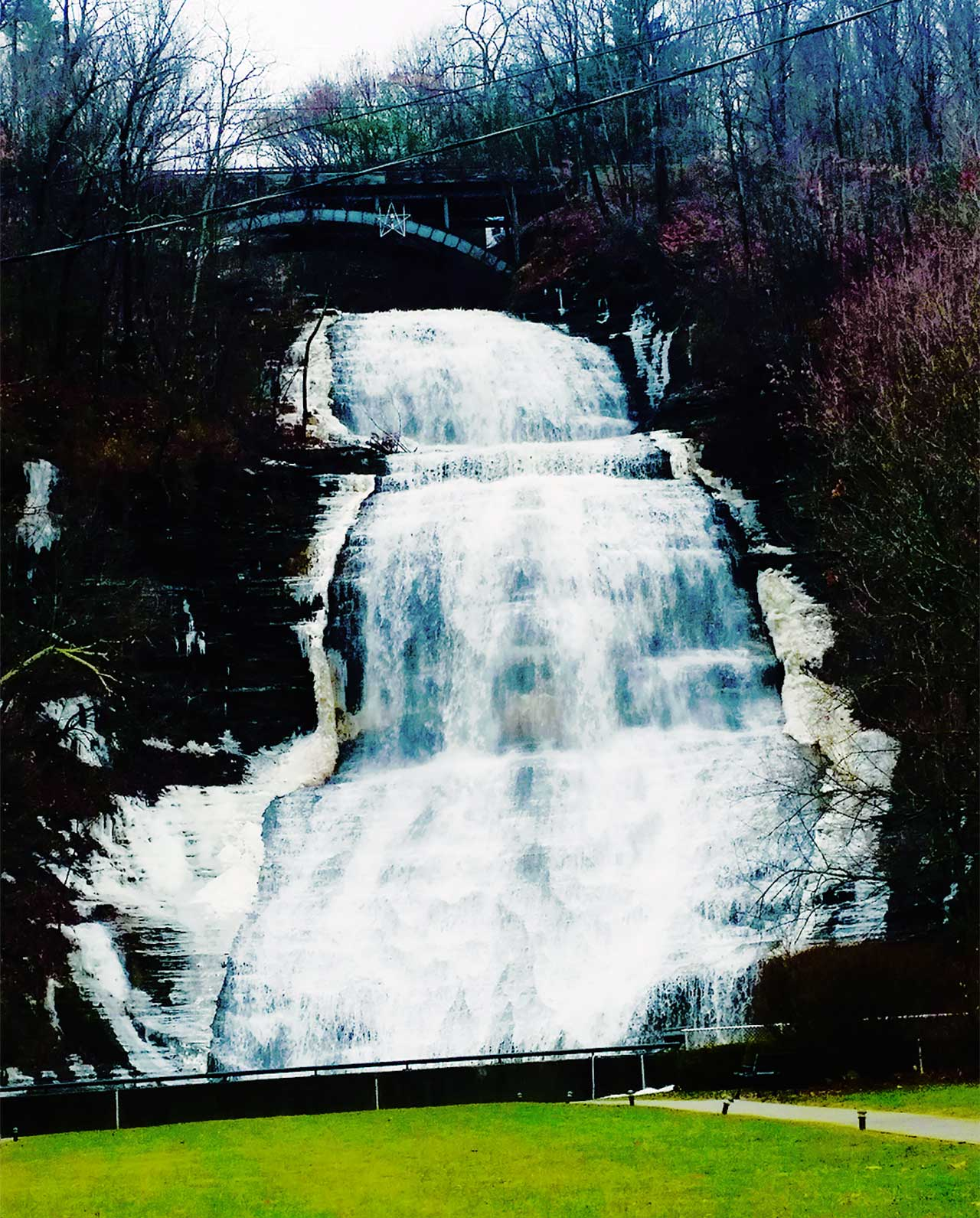 Montour Falls flowing in January (photo)