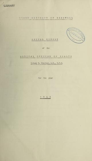 Cover of: [Report 1945] by Bakewell (England). Urban District Council